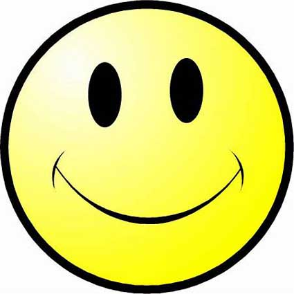 Happy face clipart no background.