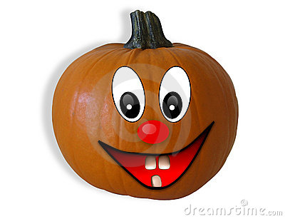 Halloween Pumpkin Isolated Happy Face Royalty Free Stock Photo.
