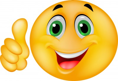 Happy Face Thumbs Down Clipart.