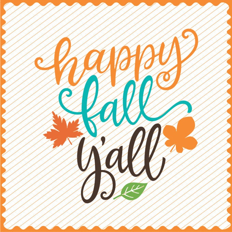 Happy Fall Yall SVG Cricut Fall Clipart Iron on Fall svg Cameo Cutting  happy fall y'all png Laser Engraving Happy Fall Laser Cutting file.