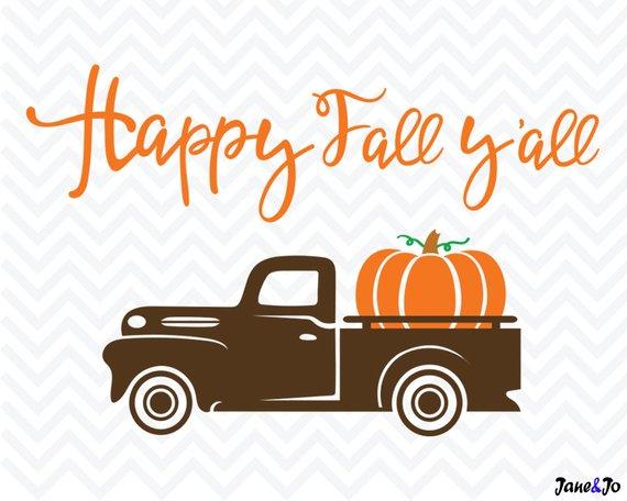 Fall truck svg,Pumpkin Truck SVG,silhouette, cricut, clipart.