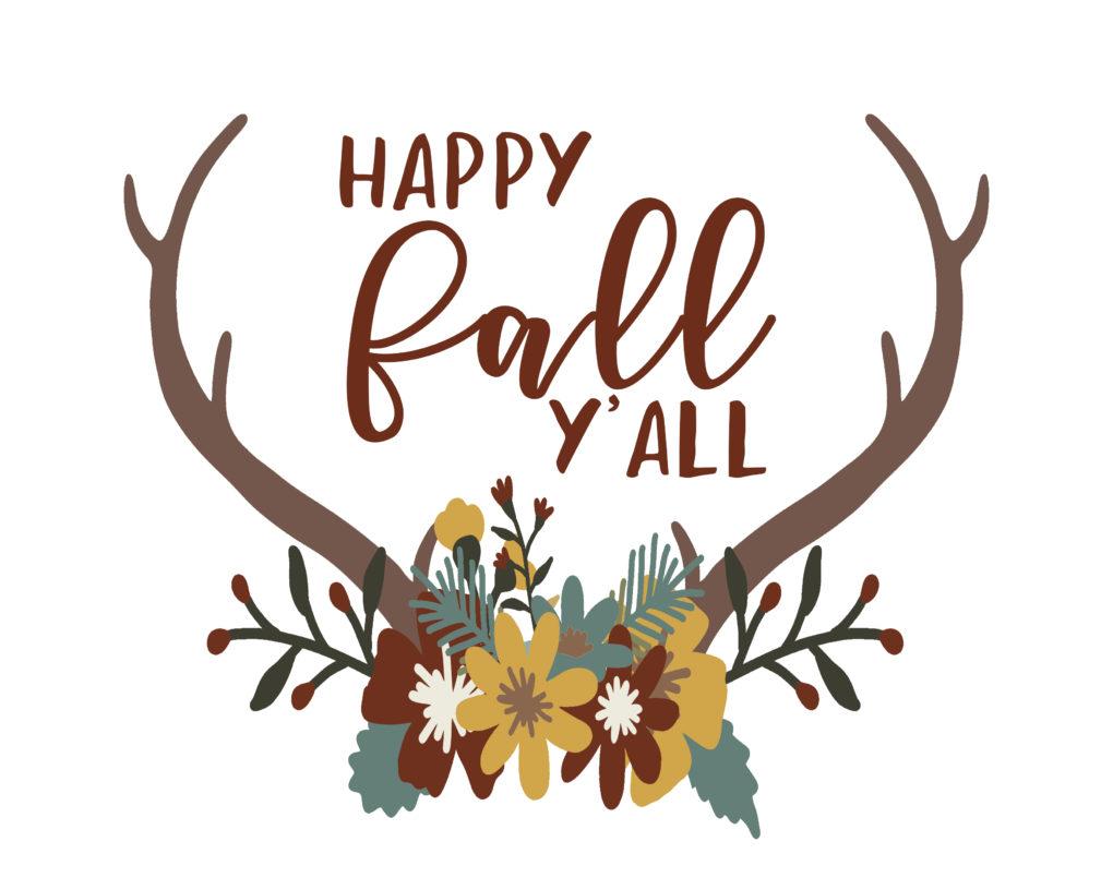 Happy Fall Yall Clipart.