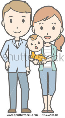 Nuclear Family Stock Images, Royalty.