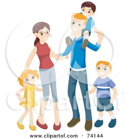Happy Family Clipart 3.