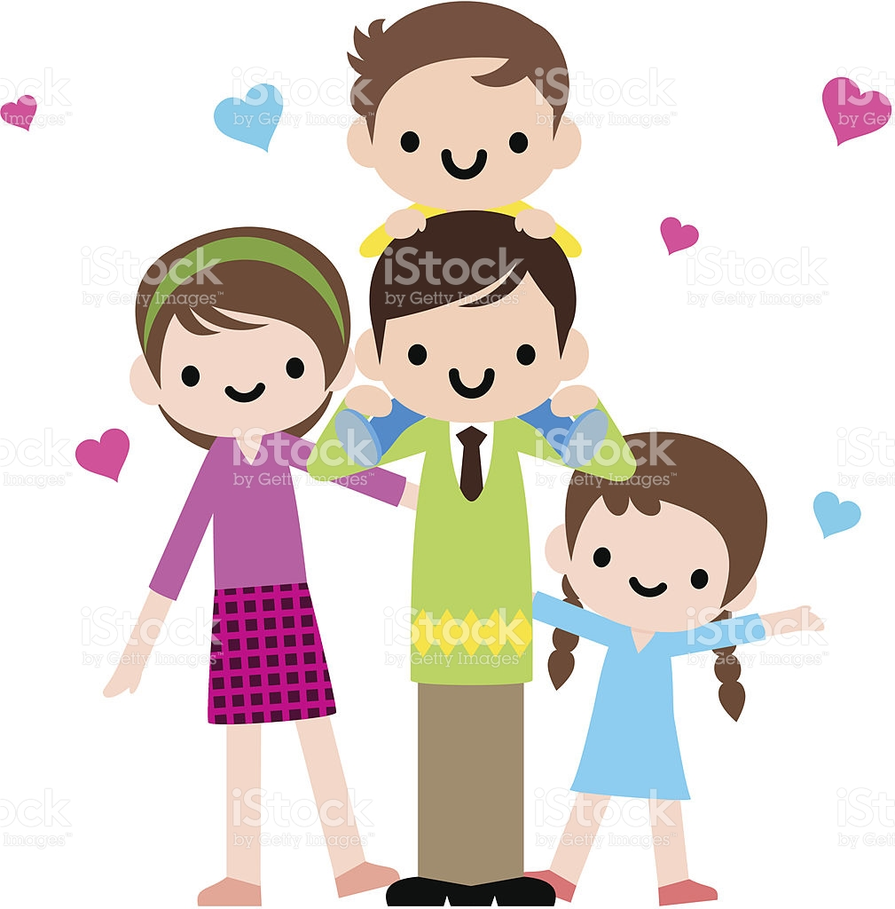 Happy Family Time stock vector art 165671631.