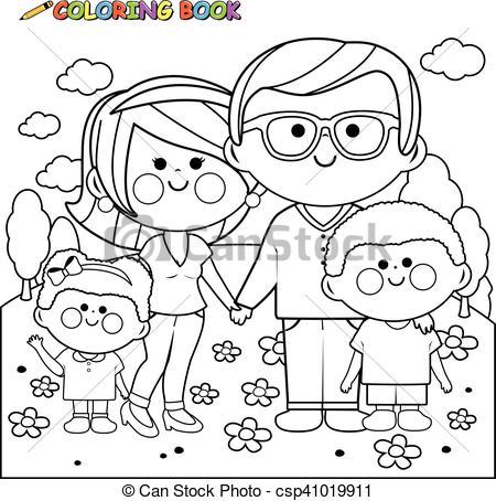 2772 Happy Family free clipart.