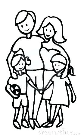 Happy Family Clipart Black And White.