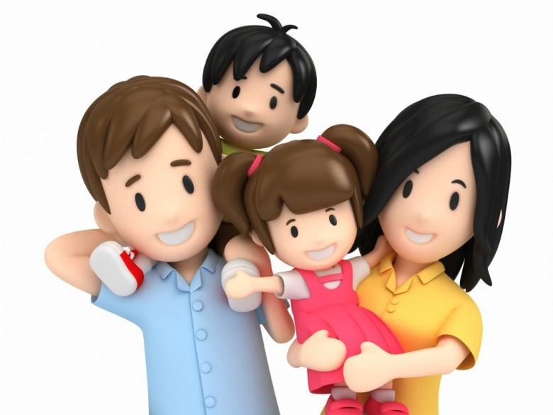 25 3D Pics. Happy Family.