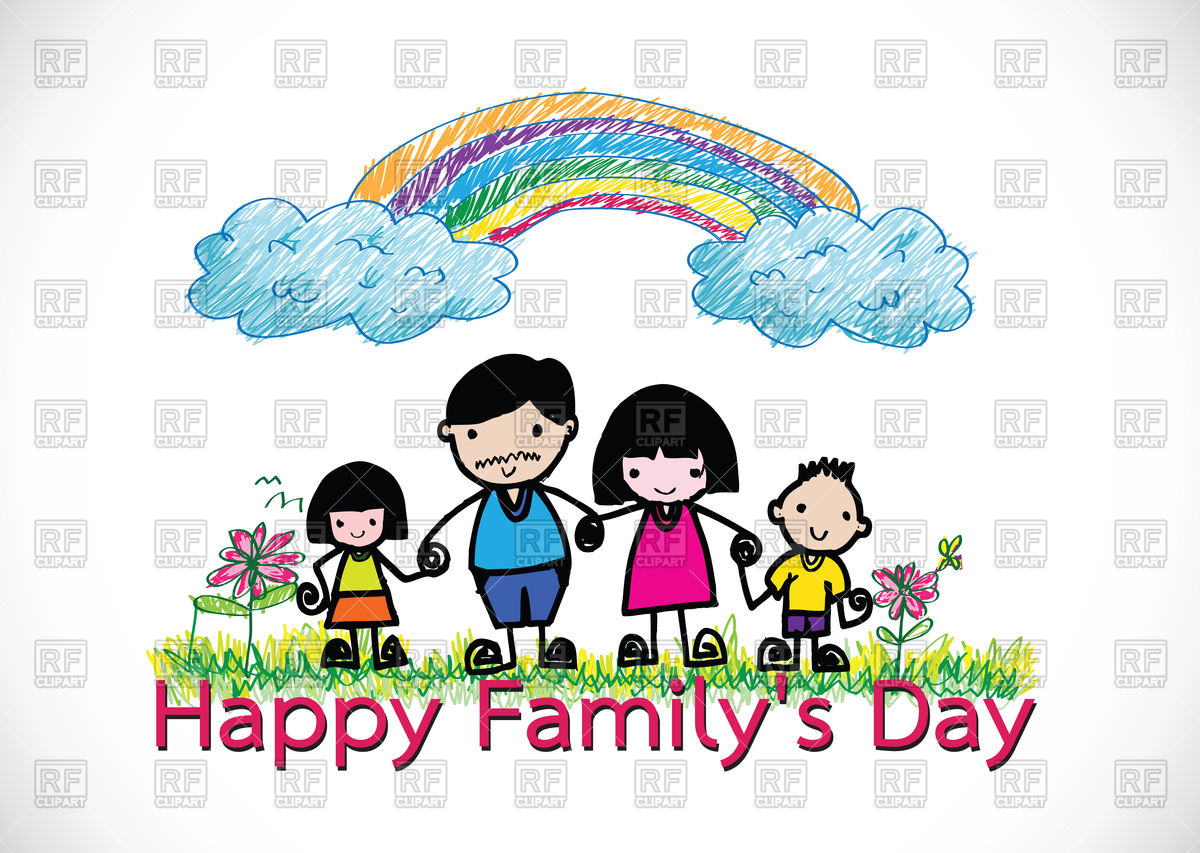 Happy family's day card Vector Image #87679.