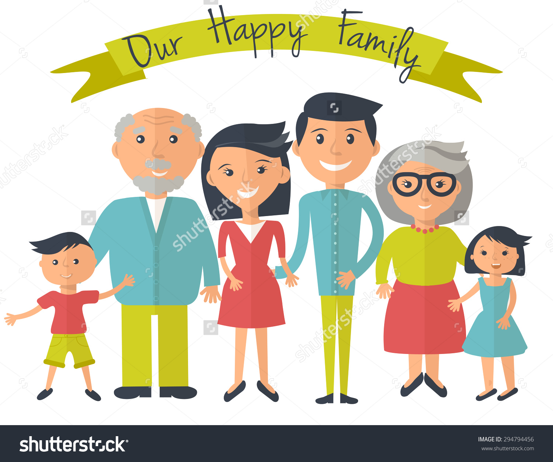 Clipart Of Happy Family.