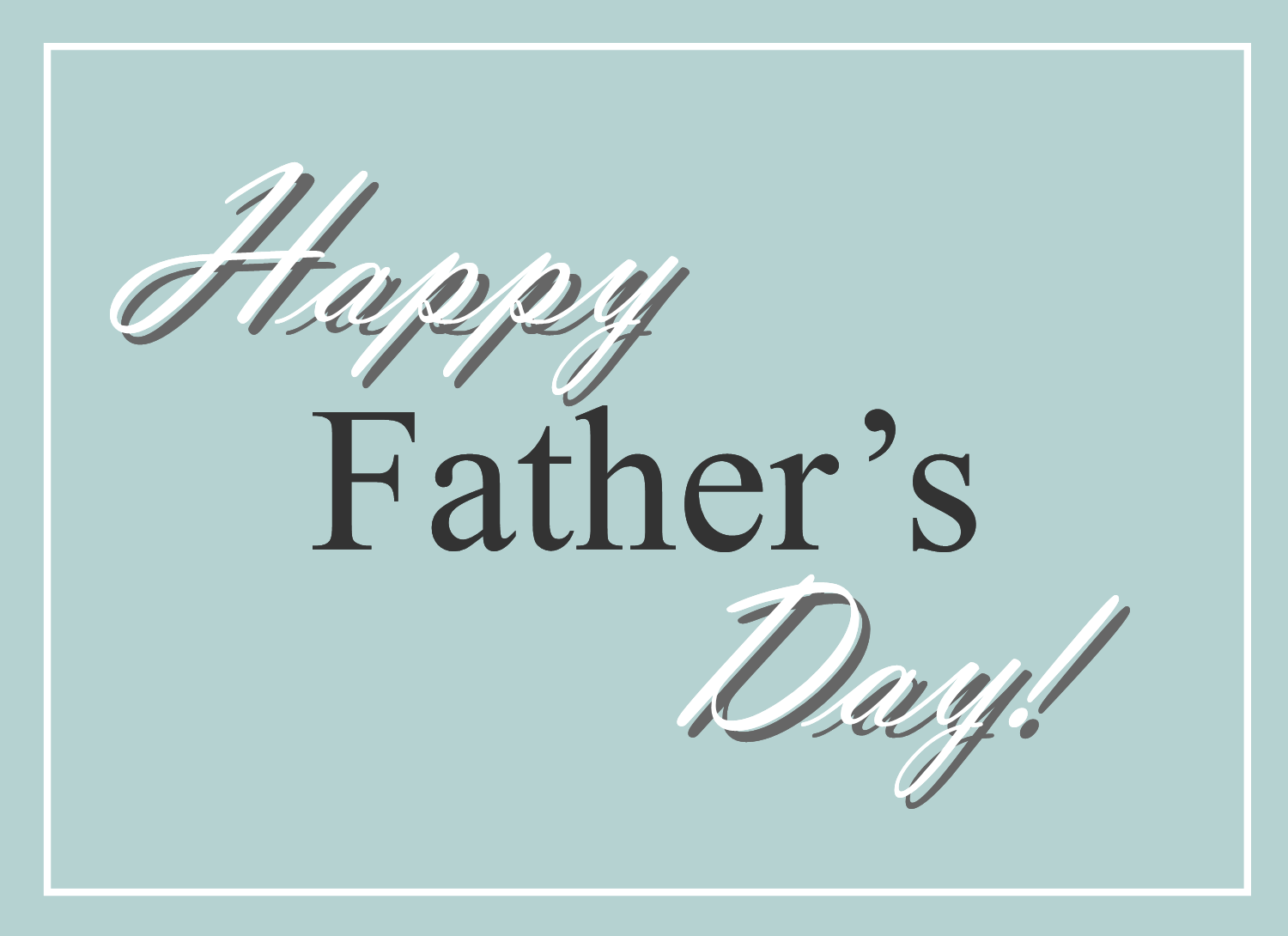 Free Clipart N Images: Happy Father's Day Clip Art Greeting.