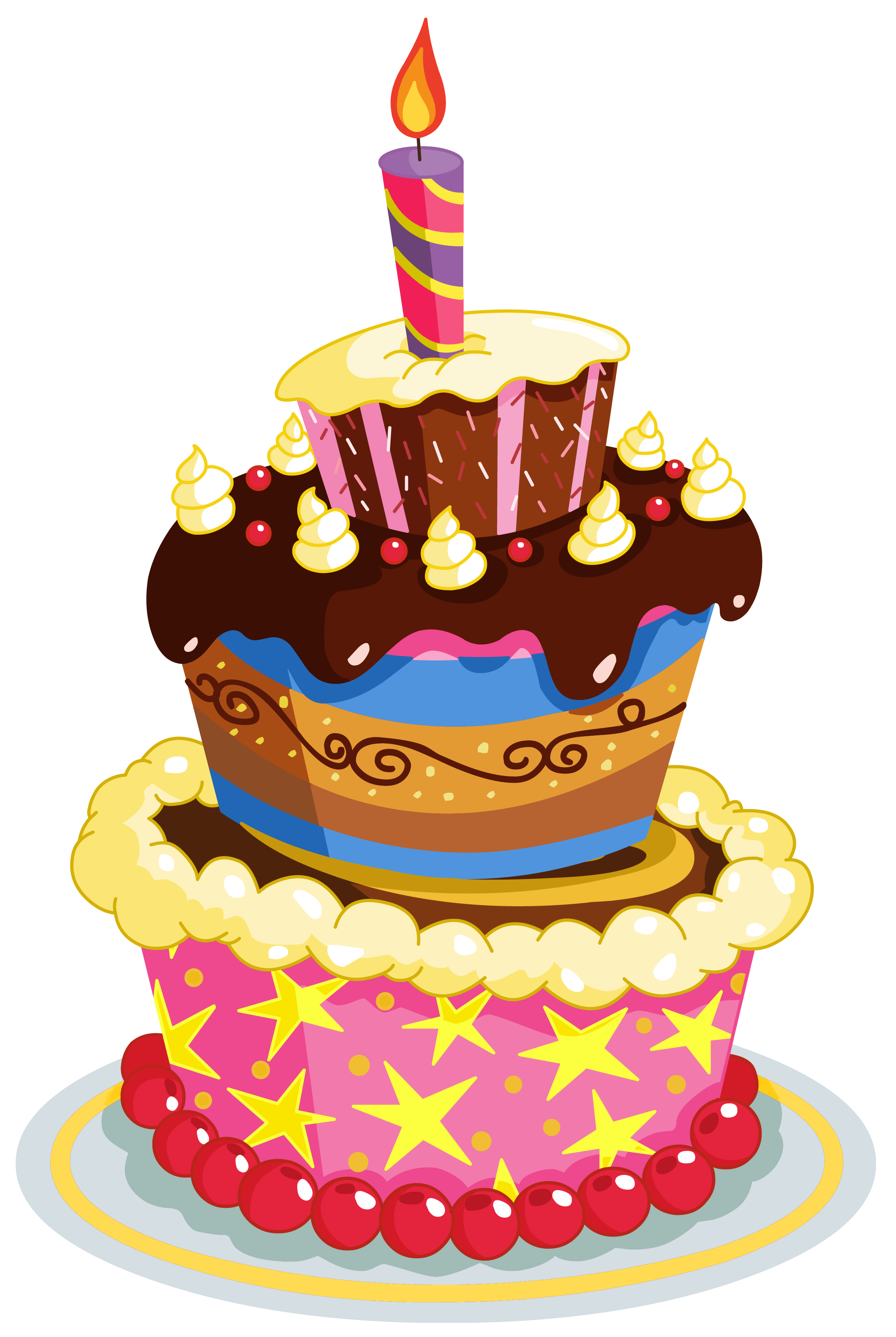 Set these cute birthday cake clipart as desktop profile in your PC.