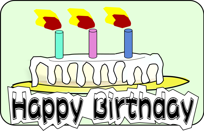 Free Birthday Cake Clipart.