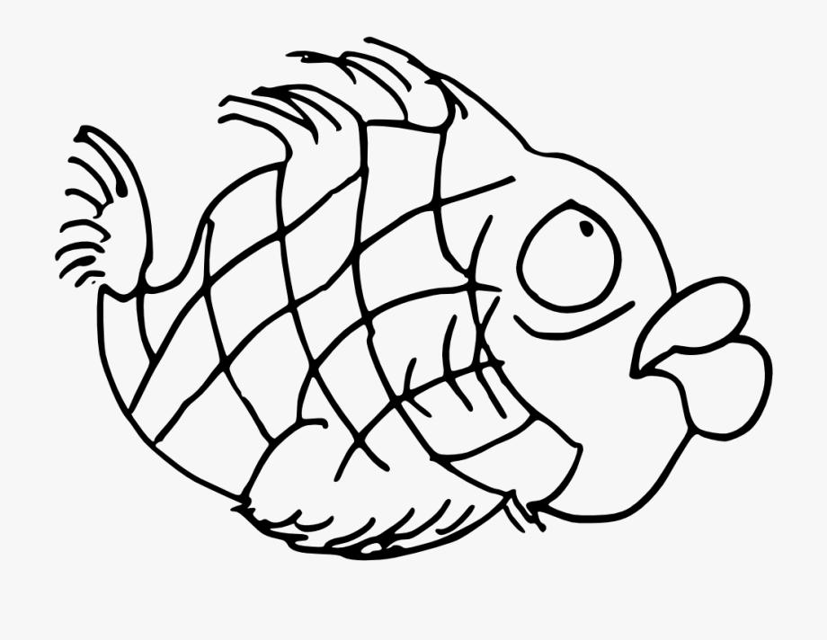 Net » Clip Art » Doodle Fish Black White Line Art Svg.