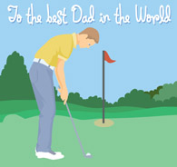 Happy fathers day golf clip art.