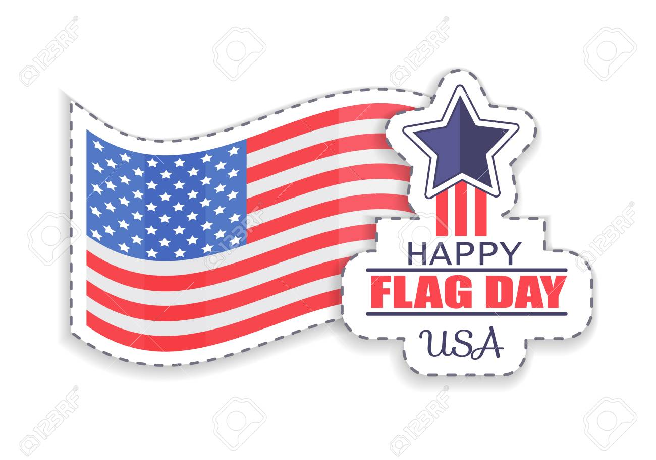 Happy Flag Day Celebration Vector Illustration.
