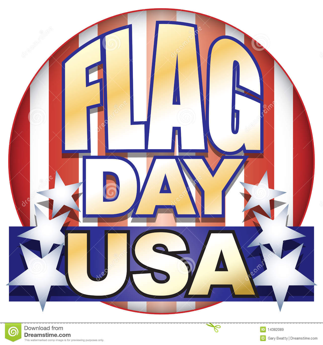 104 Flag Day free clipart.