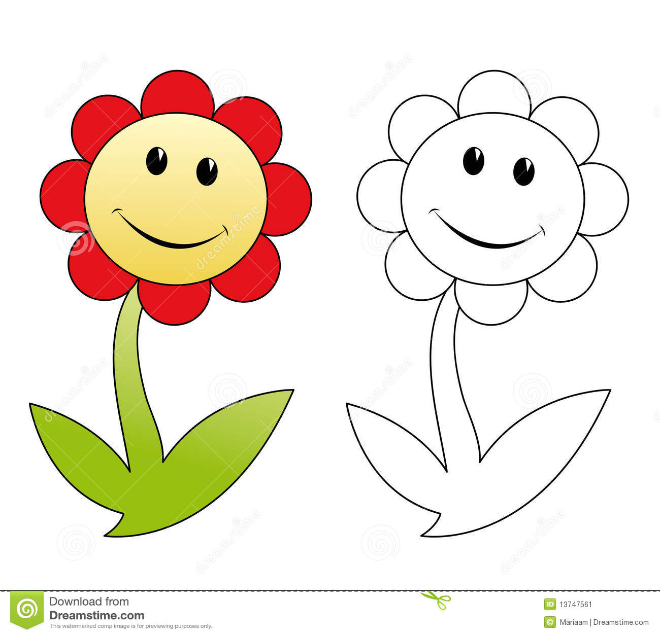 Happy Flower Stock Image.