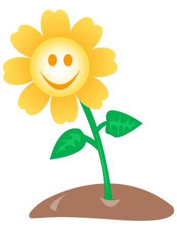 Happy Flower Clipart.