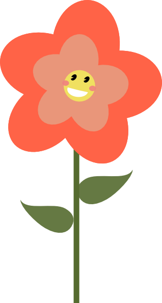 Happy Flower Clip Art at Clker.com.