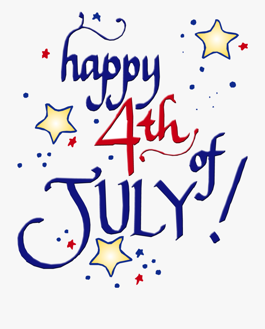 4th Of July Happy Fourth Clipart Transparent Png.