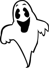 Happy ghost clipart image..