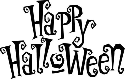Happy halloween clip art.