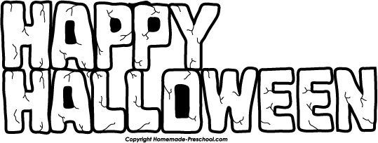 Happy Halloween Black And White happy halloween clipar...