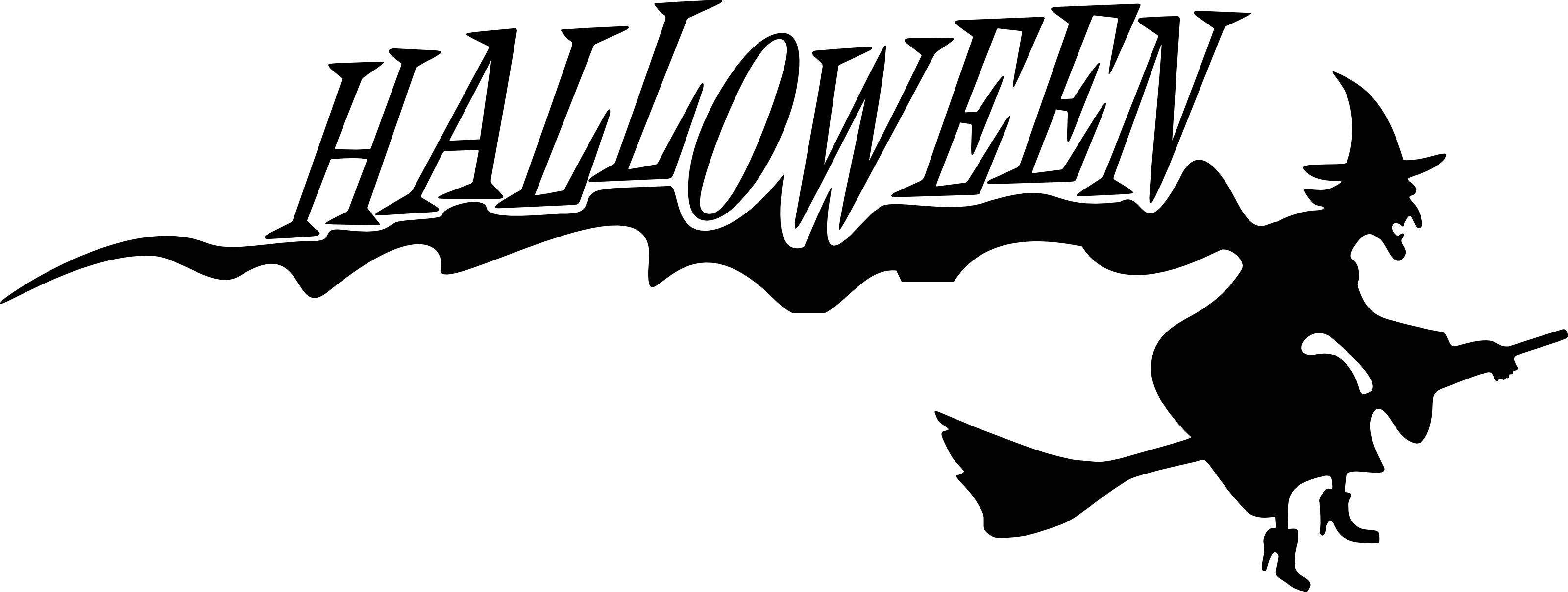 Happy Halloween Clip Art Black And White.