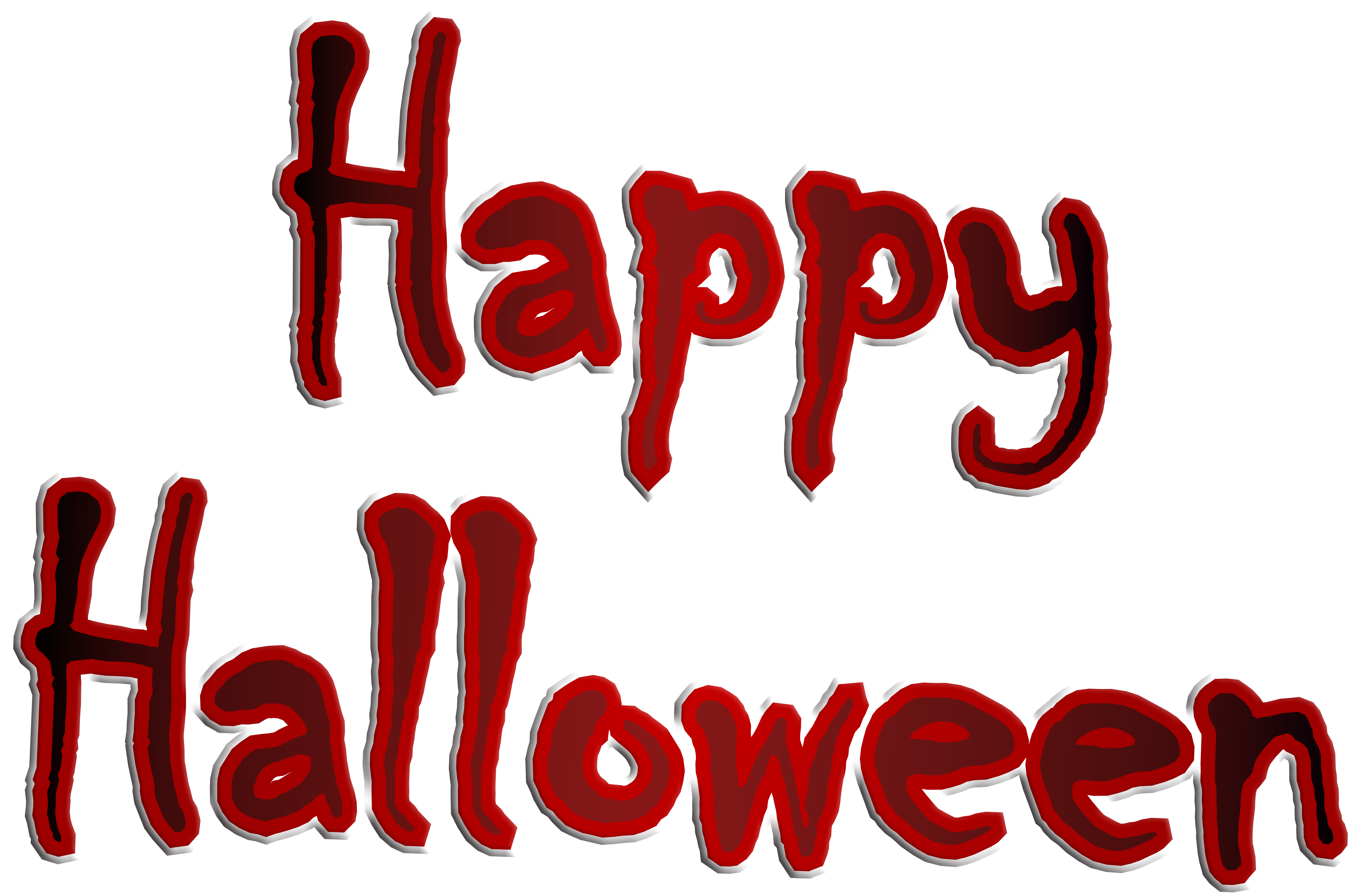 Happy Halloween Transparent PNG Clip Art Image.