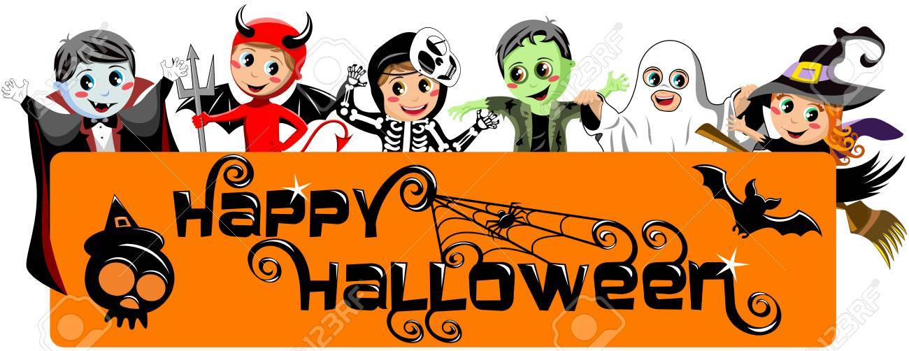 Happy halloween clipart banner 4 » Clipart Portal.