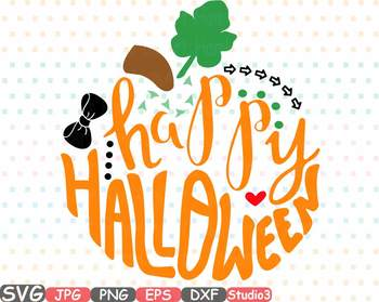 Happy Halloween Pumpkin clipart Thankgiving Trick or treat svg Autumn fall  696s.