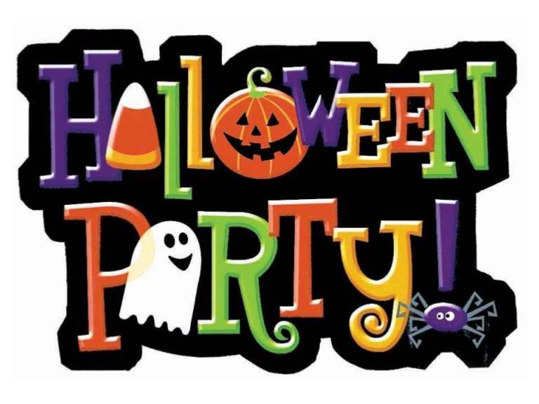 Happy Halloween Clipart Banner.