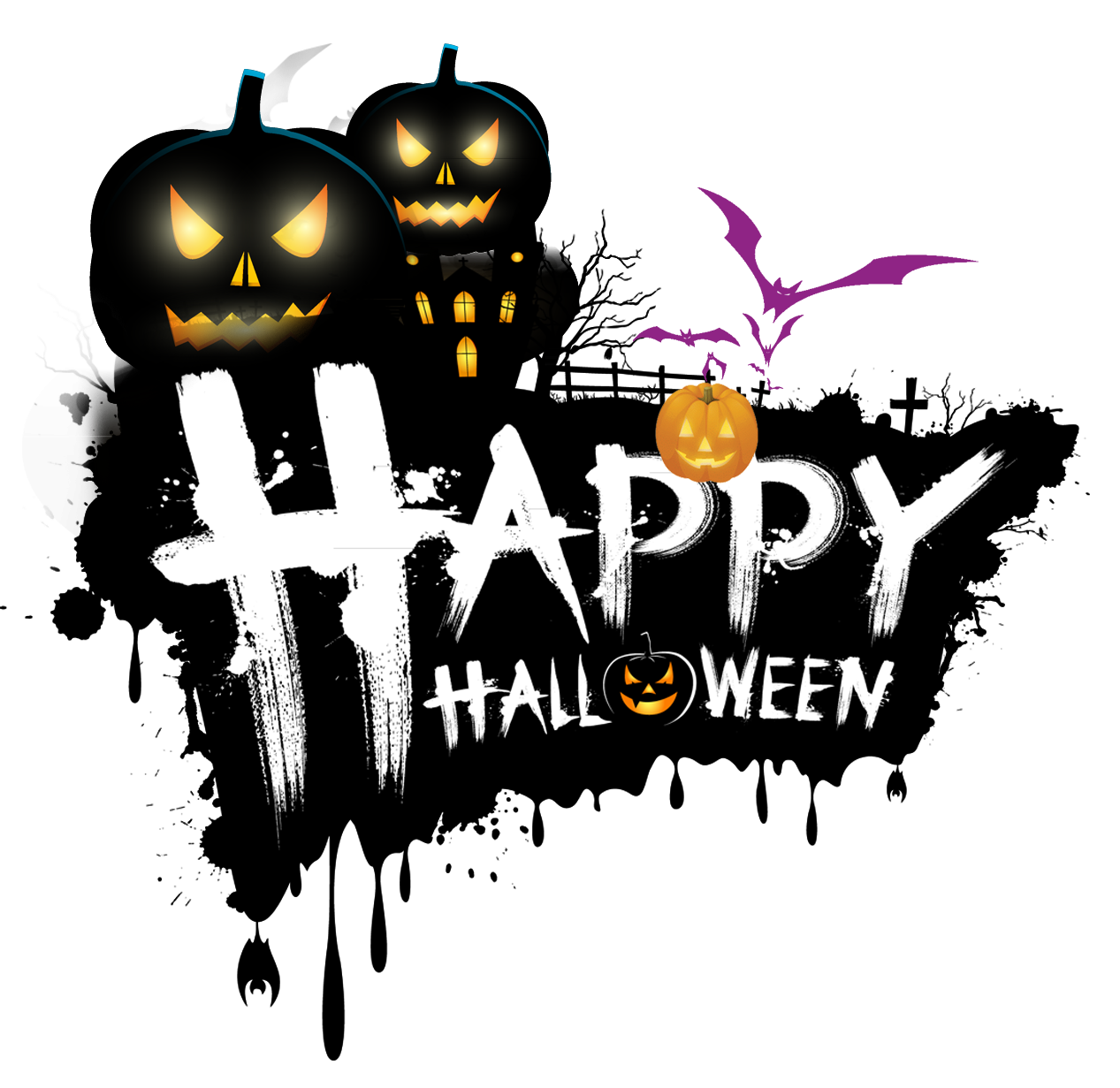 The Halloween Tree Holiday Clip art.