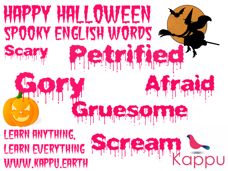 Happy Halloween! 6 Words For This Spooky Day.