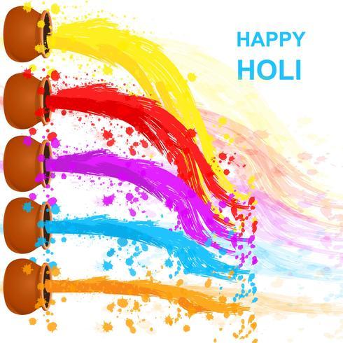 Happy Holi Background.