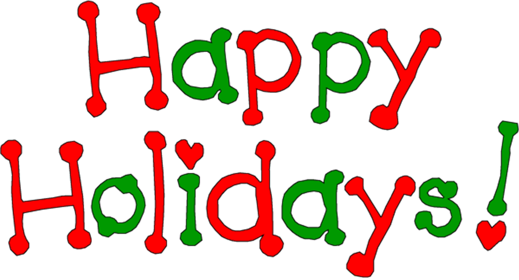 Happy holidays word art clipart images gallery for free download.