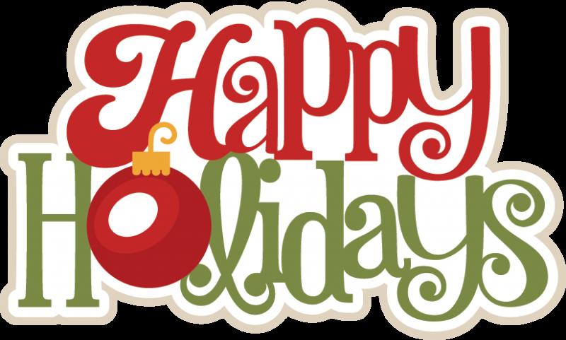 Happy Holidays SVG scrapbook title christmas svg scrapbook title.