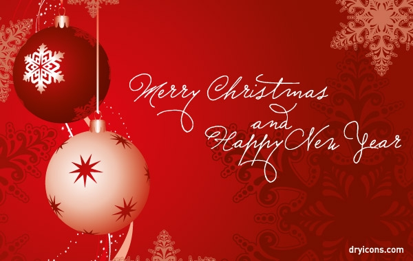 Merry Christmas And Happy New Year Clipart Graphic.