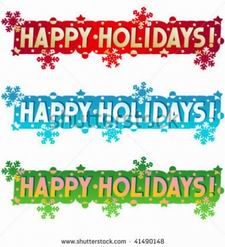 happy holidays banner clipart #7
