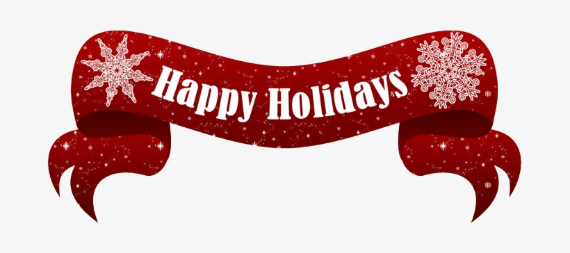 Happy Holidays Text Banner Png.