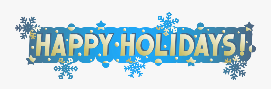 Transparent Happy Holidays Banner Png.