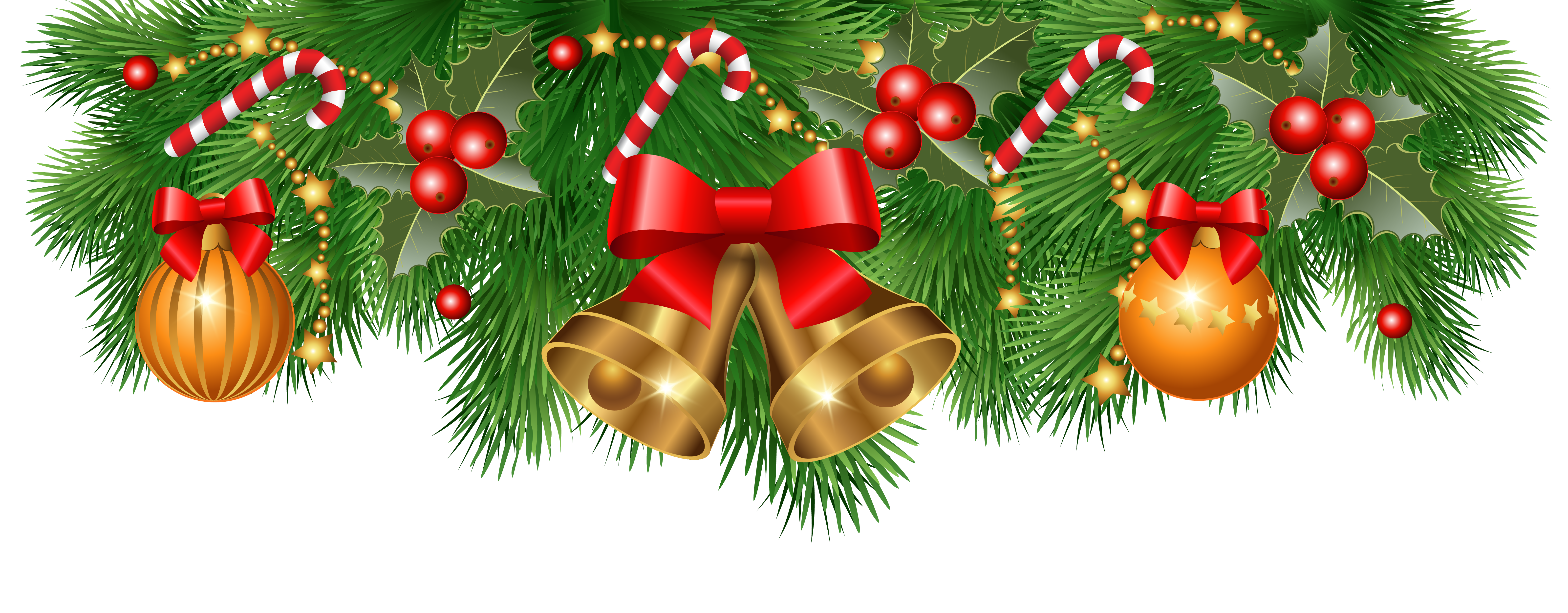 Christmas Decorations Clipart Borders   Happy Holidays!_.