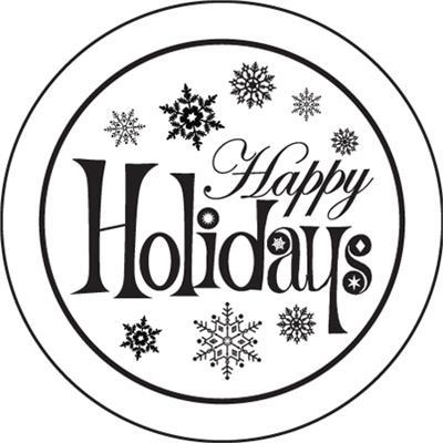 Happy holidays black and white clipart 2 » Clipart Portal.