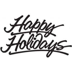 Holiday Clip Art Black And White.