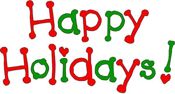 Happy holidays clip art cip me.