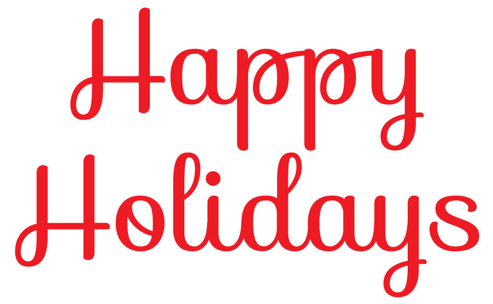 Happy Holidays Banner Clipart.