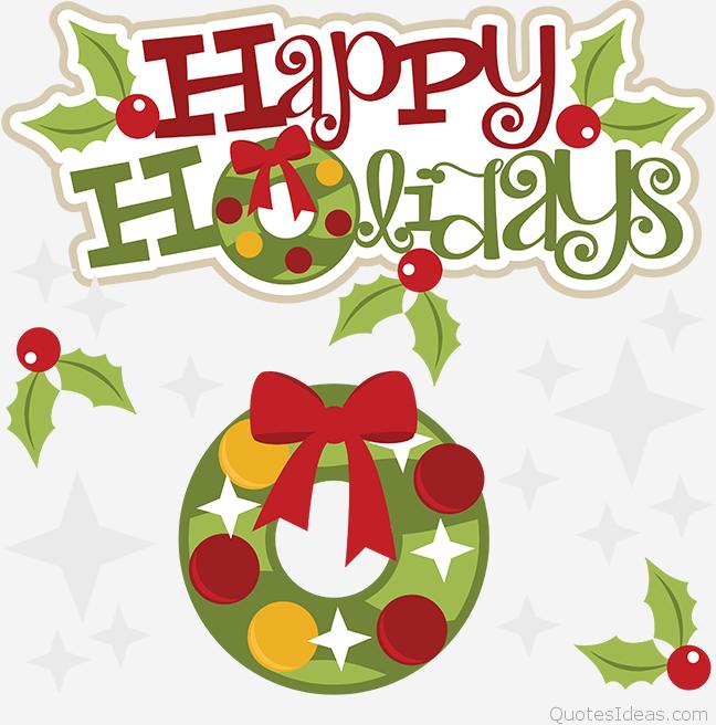 Happy holidays clip art animated.