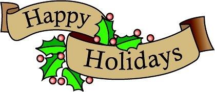 Happy holidays clip art.