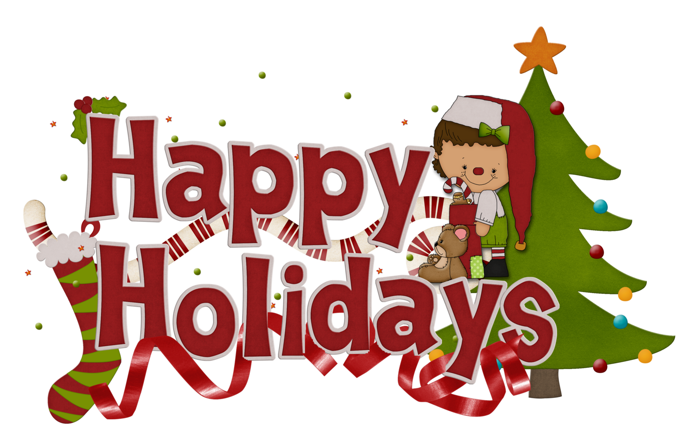 With Happy Holidays Title ., Clip Art Happy Holidays Free Clipart.